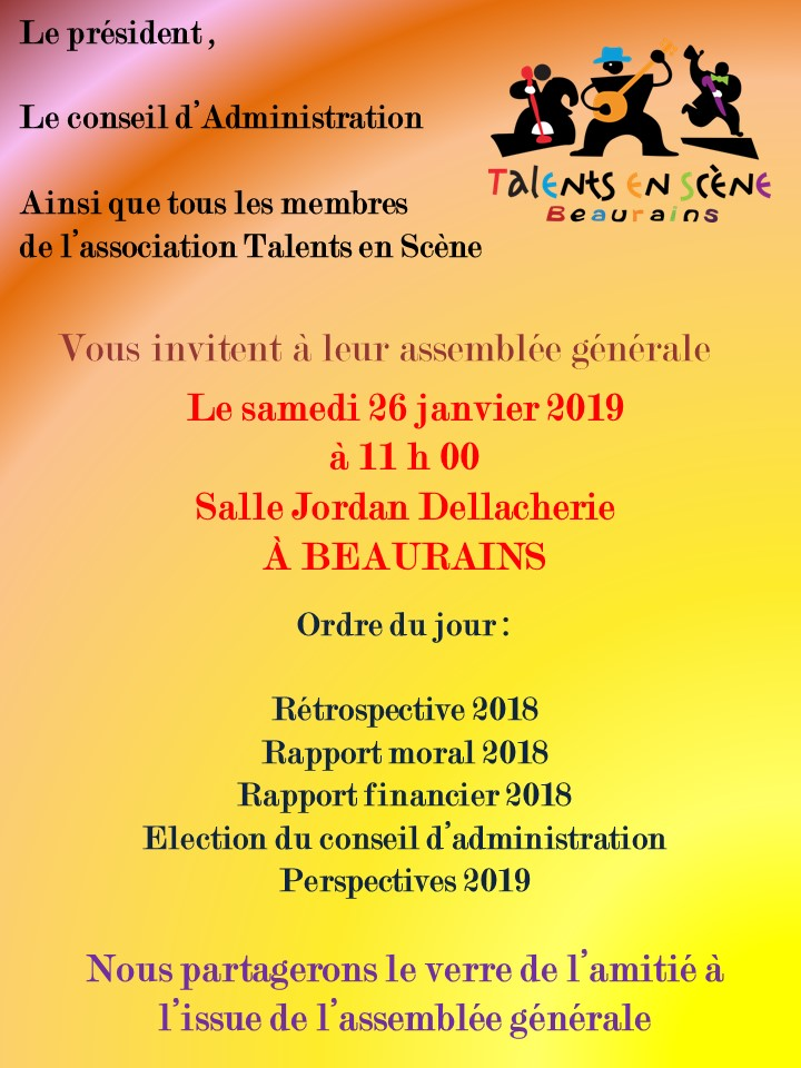 Invitation ag 2019